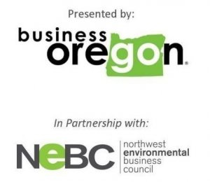 Logos of NEBC and Business Oregon, co sponsors of the Oregon Infrastructure Summit